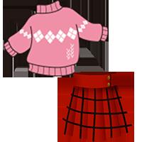 セーター・スカート