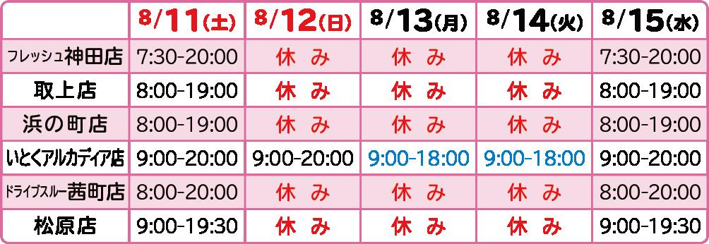 2018年お盆-弘前直営店