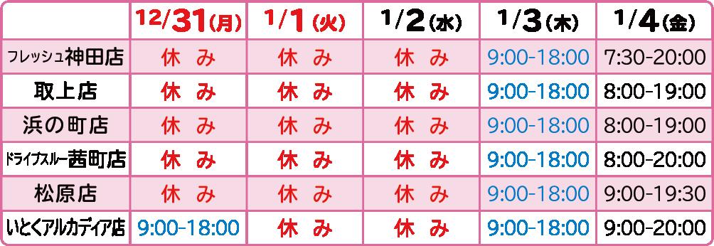 2018-19年末年始-弘前