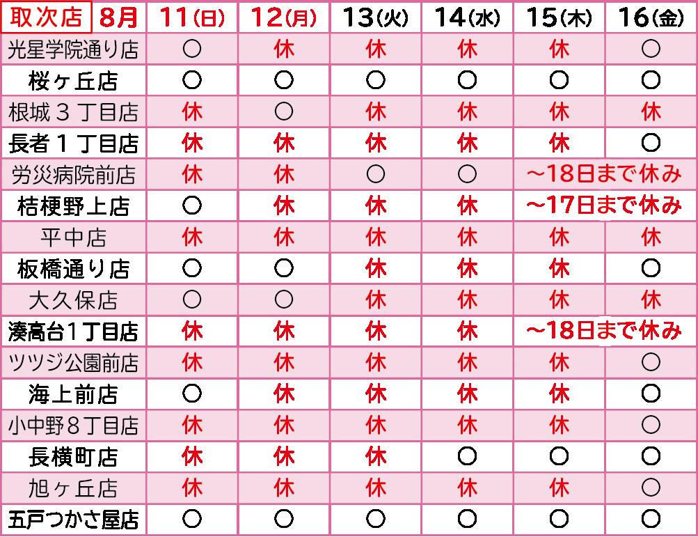 2019年お盆-八戸取次店