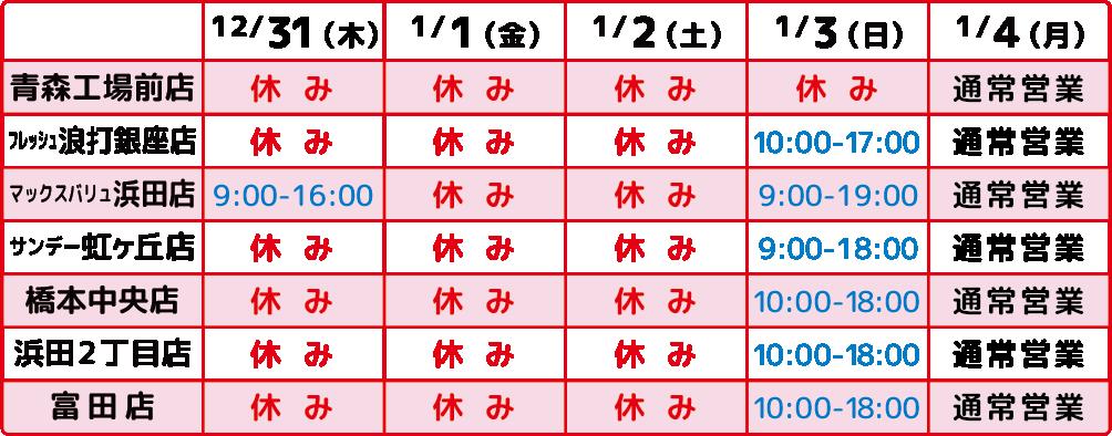 2020-2021年末年始-青森